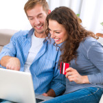 Young couple Buying Online